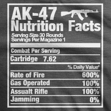 AK-47 NUTRITION FACTS