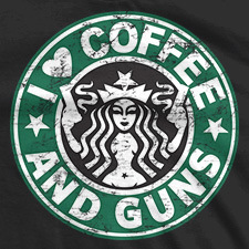 I HEART COFFEE AND GUNS