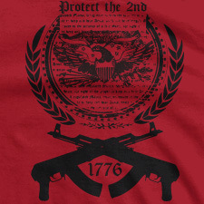 PROTECT THE SECOND 1776 CROSSED AK-47 SEAL
