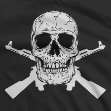 SKULL AND CROSSED GUNS